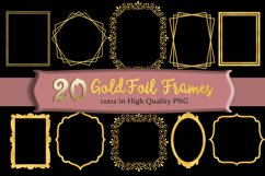 Gold Frames Clipart Set of 20 Product Image 1