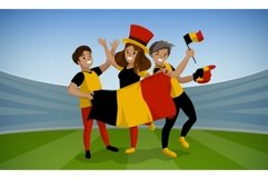 Football day concept background, cartoon style Product Image 1