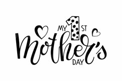 My 1st Mothers Day SVG. Baby Mother's day svg. Product Image 3