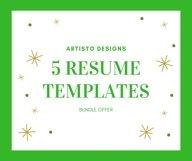 Creative resume template / CV. Bundle offer Product Image 1