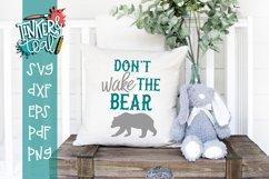 Dont Wake The Bear Nursery SVG Product Image 1
