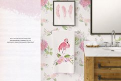 Pink Flamingo Seamless Patterns Product Image 4