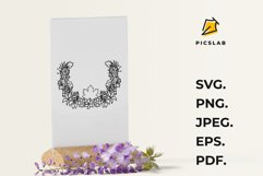 Fall leaves wreath - Floral wreath - Flower wreath Product Image 6