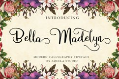 Bella Madelyn Script Product Image 1