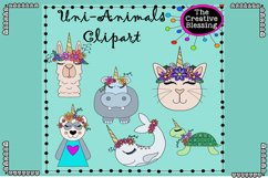 Unicorn Animals Clipart Product Image 1