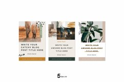 Professional Looking Blogger Pinterest Pin Pack | Canva Product Image 5