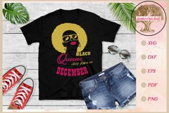 Black queens are born in December birthday t shirt design Product Image 1