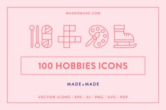 Line Icons - Hobbies Product Image 1