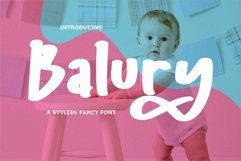 Web Font Balury - A Stylish Fancy Font Product Image 1