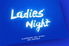 ladies night text effect editable vector Product Image 1