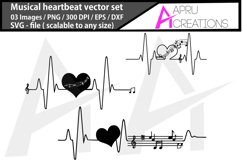music heartbeat silhouette/music heartbeat svg Product Image 1