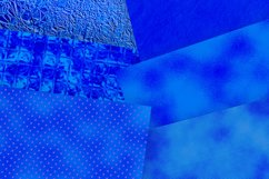 Royal Blue Foil and Glitter Textures Digital Paper Product Image 2