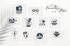 50 Logos & Badges. Vacation Time Product Image 5