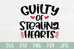 Guilty Of Stealing Hearts - Valentines Day SVG Product Image 2