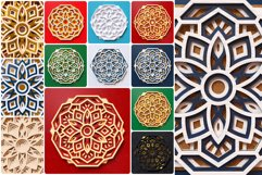 Mandala 3D Layered SVG Cut File - Laser Cutting Product Image 2