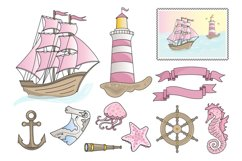 PINK SEA Color Vector Illustration Set Product Image 2