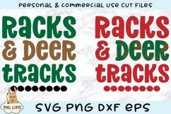 Racks & Deer Tracks Grunge Distress SVG Product Image 2