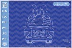 Easter car svg - Vintage car svg - Girls Easter clipart Product Image 2