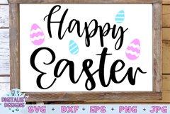 happy easter svg, easter egg svg, easter decor svg Product Image 1