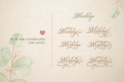 Madelican Calligraphy Font Product Image 5