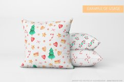 Seamless Christmas pattern with watercolor illustration Product Image 5