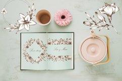 Graceful Lily, botanical Illustrations for wedding, vintage Product Image 4