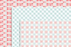 Pastel Valentine's Day Digital papers, Valentine Hearts,  Baby Baptism, Love Birds Clipart, Scrapbooking Paper Product Image 4