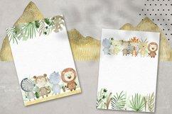Savannah. Watercolor animals. Product Image 3