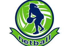 Netball player passing ball Product Image 1