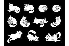 White doodle cat character Product Image 1