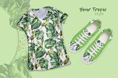 Tropics leaves JPG watercolor set Product Image 3