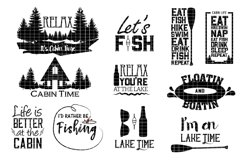 Cabin and lake svg design files Product Image 1