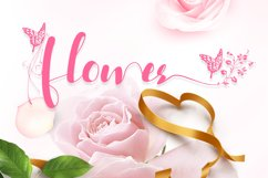 Acmedia Butterflies and Flowers Font Product Image 4