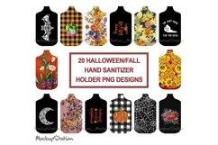 Fall Hand Sanitizer Holder Sublimation Designs Bundle PNG Product Image 1