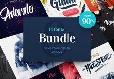 Fonts Bundle. 90% OFF Product Image 1