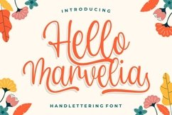 Hello Marvelia - Handlettering Font Product Image 1