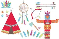 Tribal Woodland Animals Clipart Product Image 2