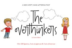 The overthinkers hand lettering font Product Image 1