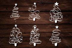 Papercut Merry Christmas Textual Tree Set Product Image 3