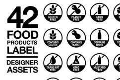 42 Food Allergy & Products Label Version 2 SVG AI EPS Product Image 1