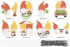 Cute GNOMES in LOVE clipart, Fairy tale, Romantic clip art Product Image 2