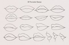 18 Procreate Lips Stamp Brushes, Portrait Guide Product Image 3