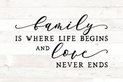 Family is where life sign svg - farmhouse home sign svg Product Image 2