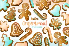 Gingerbread Watercolor Cliparts Product Image 1
