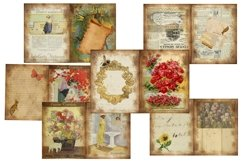 House and Garden Vintage Journal Scrapbook Kit PDF Product Image 4