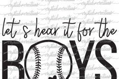 Let's Hear it for the Boys Baseball SVG, DXF, PNG Product Image 3