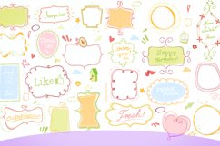 cute doodle clip art pack white/colored  Product Image 1