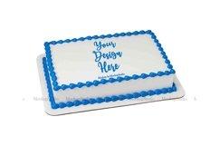 Sheet Cake Mockup Bundle, Edible Cake Print Mock Up Display Product Image 2