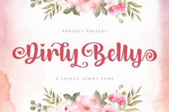 Dirly Belly - Lovely Calligraphy Font Product Image 1