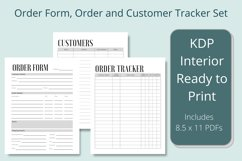 Business Order Form, Customer and Order Trackers Product Image 1